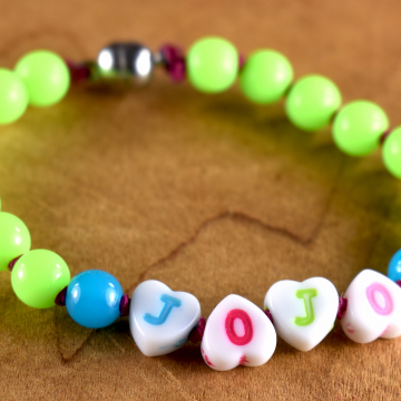 Toddler Name Bracelet, Tribal Tot Beaded Bracelet, Girl or Boy Name Bracelet, Children's Jewelry