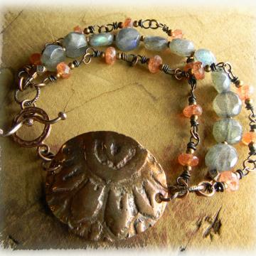 Sunstone and Labradorite Bracelet