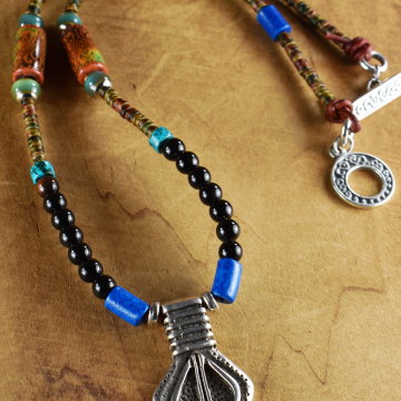 Tribal Mood Bead Necklace with Pendant