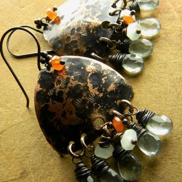 Moss Aquamarine Chandelier Earrings