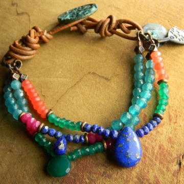 Lapis Lazuli Multi Gemstone Bracelet