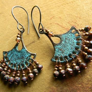 Mykonos Fan Chandelier Earrings
