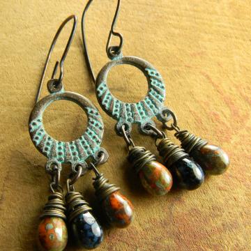 Mykonos Hoop Chandelier Earrings