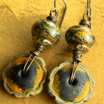 Desert Yellow Drop Earrings