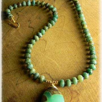 Chrysoprase Pendant Necklace