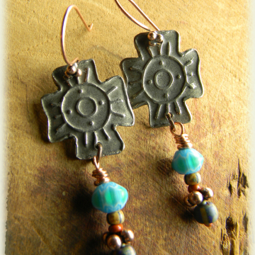 Southwestern Cross Earrings